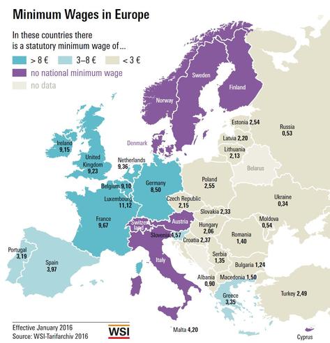 Lønningerne i Danmark er blandt verdens højeste